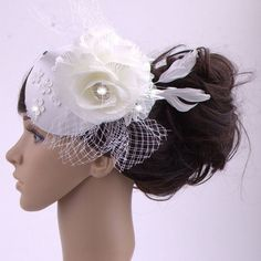 a3629f7a47cac Wedding Hair With Fascinator - Wedding and Bridal Inspiration
