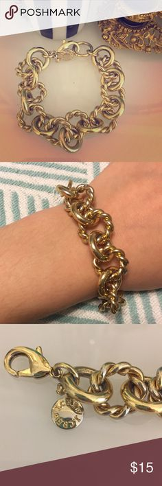 • J. Crew gold chain bracelet • In excellent used condition. Some wear as seen in last photo, but may be able to be polished up. Great staple bracelet for fall/winter! J. Crew Jewelry Bracelets