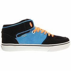 DVS Torey Skate Shoe - Men's Black/Blue Suede, 12.0