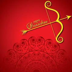 Dussehra festival greeting or poster design vector image on VectorStock Dasara Wishes, Happy Dusshera, Dussehra Images, Shri Hanuman, Branding Design, Logo Design, Art N Craft, Custom Wallpaper, Wallpaper Backgrounds