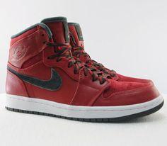 Air Jordan I High–Varsity Red-Dark Army-White