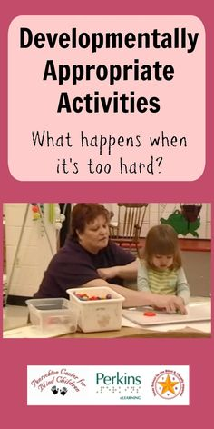What happens when an activity is not at the appropriate developmental level for a child? Watch this video of a typical 2-year-old girl who is given tasks that are much too difficult and see how behavior problems arise.