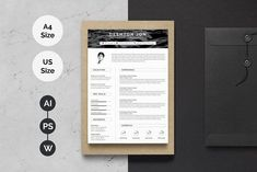 Word Resume Template by TemplateForest on Creative Market Resume Design Template, Creative Resume Templates, Cv Template, Print Templates, Design Templates, Curriculum Vitae Template, Curriculum Vitae Resume, Standee Design, Simple Resume