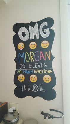 #emojis #party #chalkboard