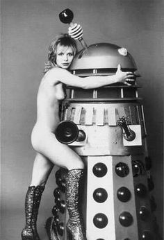 """Katy Manning as """"Jo Grant"""", Doctor's companion, and a Dalek Jon Pertwee, Doctor Who Companions, Classic Doctor Who, Are You Not Entertained, Bbc Doctor Who, Space Girl, First Doctor, Real Model, Female Doctor"""
