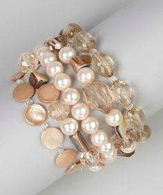 Loving this Natural Shell & Sparkle Stretch Bracelet Set on #zulily! #zulilyfinds http://www.zulily.com/invite/bkosloski681