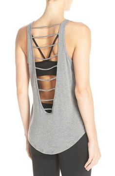 Yoga Clothes Ideas : Crushing on this lightweight workout tank that gets a contemporary update with cool ladder cutouts through the back for a breezy fit. Yoga Fashion, Sport Fashion, Fitness Fashion, Fitness Wear, Fitness Top, Workout Fitness, Fitness Diet, Workout Attire, Workout Wear