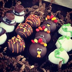 cake ballers cake balls! Turkey's, Pilgrims, and pumpkins, oh my! Being thankful one bite at a time! Hurry and get your order in for a fun and festive Thanksgiving dozen, ready in time for your gathering next week. Info@cakeballers.com is the ticket to these thankful little guys. www.cakeballers.com #thecakeballers #cakeballers #cakeballer #eatmorecakeballs #happythanksgiving #turkey #gobblegobble #thankspilgrim #cakeballs #givethanks #thisisboise