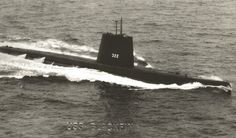 USS BLACKFIN US Navy Balao Class Submarine SS-322, originally launched by the Electric Boat Company in 1944 from Groton Connecticut. Blackfin received 3 battle stars for her World II service.
