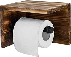 Amazon.com: MyGift Wall Mounted Wood & Pipe Toilet Paper Holder & Shelf, Dark Brown: Home & Kitchen Wooden Toilet Paper Holder, Recessed Toilet Paper Holder, Wall Mounted Toilet, Toilet Roll Holder, Industrial Toilets, Rustic Toilets, Torch Wood, Pipe Furniture, Amazon