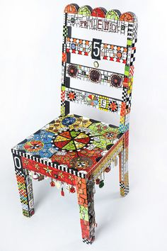 """THOR'S CHAIR""  43"" h X 17.5 w X 15.5"" d by Flair Robinson Studio, via Flickr"