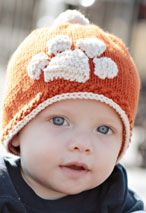 Tiger Stamped Hat Pattern Pattern - looks like it could be a Retriever paw too :)