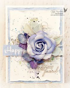"Blog studio75.pl: ""Happy"" card by Olga / Kartka ""Happy"" od Olgi"