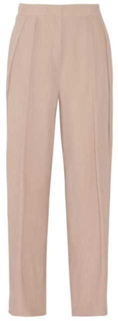 Pantalon large à plis rose poudré, By Malene Birger