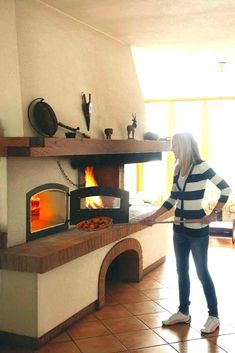 Precise Wood Fired Pizza Oven 90cm Black Deluxe-extra-corner Orange-brick Package Easy To Repair Garden & Patio