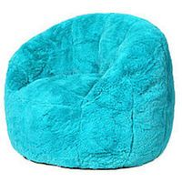 Teal  White Elephant Tear Drop Bean Bag Chair  Take A