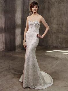 Badgley Mischka Fall 2017: Ornate, Glamorous Wedding Dresses   TheKnot.com