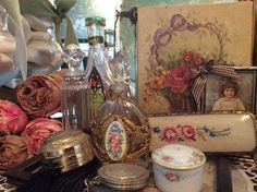 Antique Vanity Items