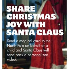 FREE Personalized Video Ecard From Santa Claus on http://hunt4freebies.com