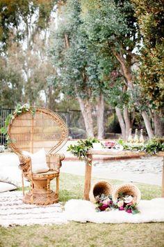 Ideas For Bohemian Bridal Shower Decorations Boho Chic Wedding Inspiration Backyard Bridal Showers, Chic Bridal Showers, Wedding Backyard, Boho Baby Shower, Baby Shower Chair, Chic Wedding, Trendy Wedding, Wedding Decor, Bridal Shower Decorations