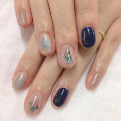 21 Gorgeous Flower Nail Art Designs Ideas for Spring You Must Try Nail Art Designs, Flower Nail Designs, Flower Nail Art, Simple Nail Designs, Art Flowers, Nails Design, Blue Flowers, Korean Nail Art, Korean Nails