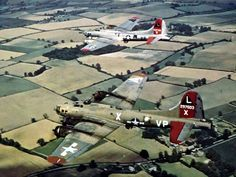 The old and the new. B17s over England 1944.