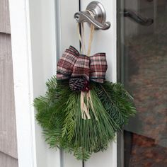 While you are busy decking the halls with boughs of holly, don't forget to decorate the door knobs too! Cute, fun and fragrant, these door handle swags are hand assembled with fresh cut Christmas Greens and a hand-tied bow. Visit GrowersBox.com for more information on bulk Christmas Greens and other holiday decorations.