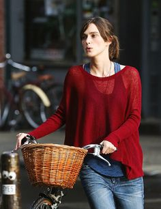Keira Knightley on the set of Can a Song Save Your Life?