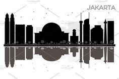 #Jakarta #City #skyline by Igor Sorokin on @creativemarket