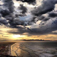 Sunrise at Muizenberg Beach.