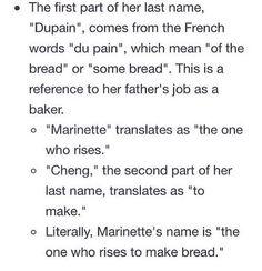 Marinette's Name