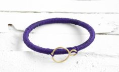 Infinity Charm Thread-Wrapped Bracelet