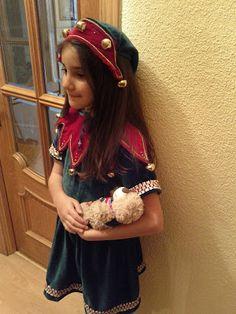 El blog de la Tata: Disfraz de elfo de navidad para niñas