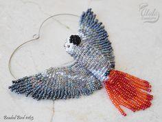 African Grey Parrot Suncatcher Window Decor Bird by AlulaCreations