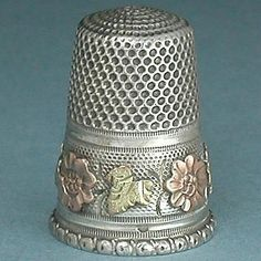 "herminehesse: ""Antique French silver thimble """