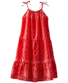 Osh Kosh Toddler Girls' Bandana-Print Maxi Dress