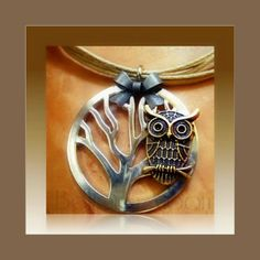 Lomasi Owl Necklace by BeltaneMoon on Etsy, $14.00