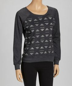 $16 Take a look at this Gray & White Geo Sweatshirt by Feathers on #zulily today!