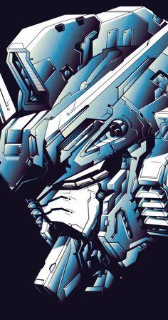 Digital Illustration of a Gundam head. Gundam Head, Gundam Wing, Arte Gundam, Gundam Art, Gundam Wallpapers, Animes Wallpapers, Robot Concept Art, Custom Gundam