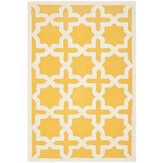 Safavieh Handmade Moroccan Cambridge Gold/ Ivory Wool Rug (3' x 5')   Overstock.com Shopping - Great Deals on Safavieh 3x5 - 4x6 Rugs