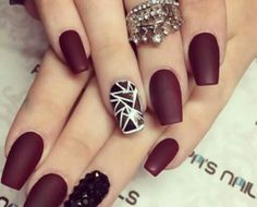 nails, dark, and fashion image