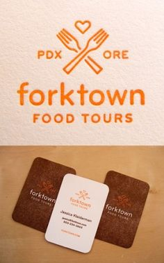 forktown logo and business cards