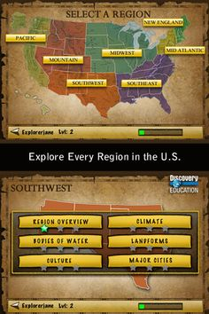 ipad app -- US geography by discovery education
