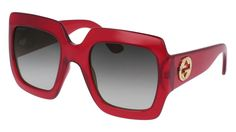 Gucci - GG0053S-003 Red Sunglasses / Grey Gradient Lenses