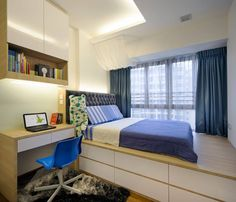 platform bed bedroom singapore - Google Search
