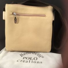 28f8cb35af54cb Benedetti-Polo-Purse-Butter-Yellow-Leather-9-034-