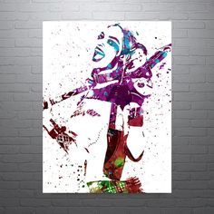 Harley quinn and the joker canvas wall pictures print for Harley quinn bedroom designs