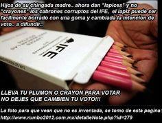 Millonarios del IFE dan nuevo golpe METEN LAPICES que pueden borrarse para votar