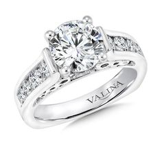 Ladies Valina Diamond Semi-mount Wedding Set in White Gold | Semi-Mounts | Bridal