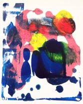 Pools & Puddles abstract art by Amantha Tsaros $100